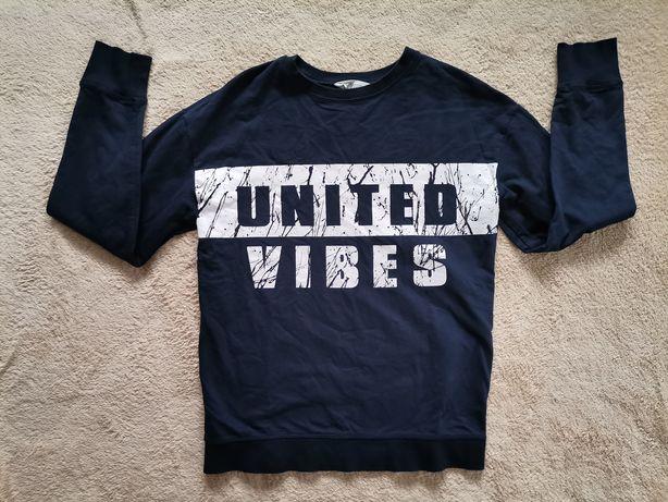Super bluza h&m młodzieżowa United Vibes 170 wiek 14 + długi rękaw