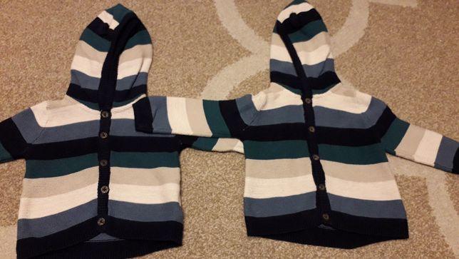 Ubranka bliźniaki Sweterki niemowlęce 62-68