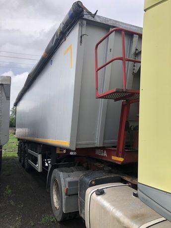 Naczepa ciężarowa wywrotka Mega 45m3 szyber do zboza os Saf Intrax