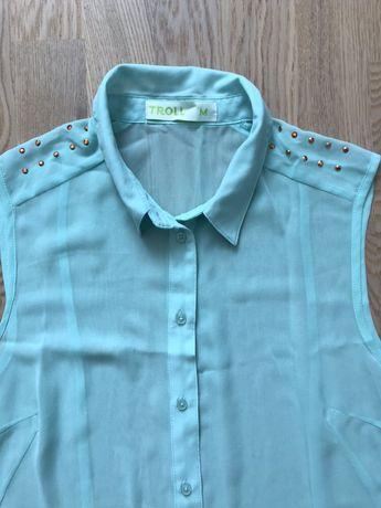 Женская бирюзовая блуза