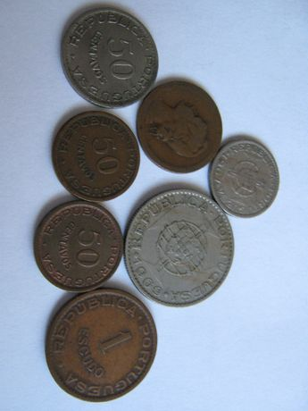 moedas antigas republica portuguesa de angola