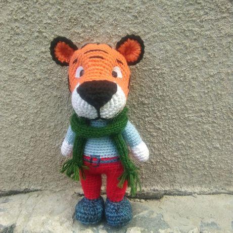 Тигр вязаный крючком, игрушка, амигуруми