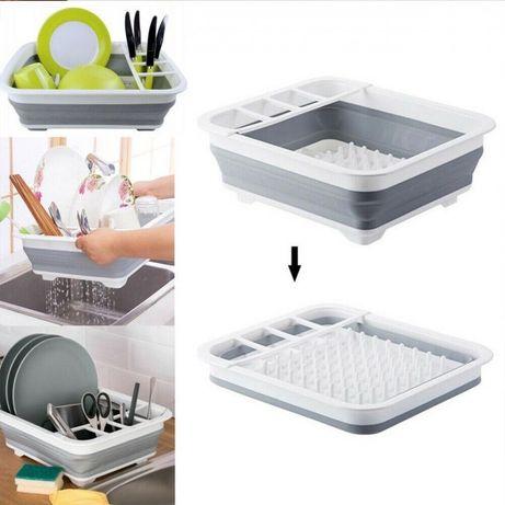 Сушка силиконовая для посуды Benson BN-090 складная кухонная сушилка д