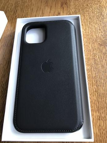 iPhone 11 Pro Leather Folio pokrowiec etui apple skóra skórzany black