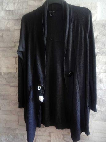 Sweter kardigan ciemny grafit M/L/40/42/44