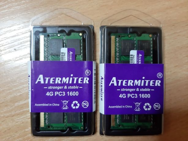 Оперативная память для ноутбука(RAM DDR3), две планки по 4GB