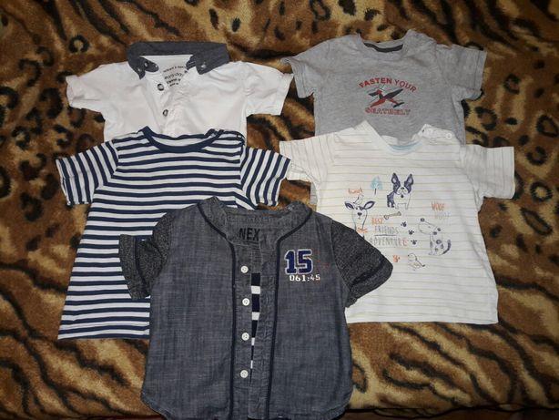 футболки для мальчика 9-12 мес за все 50