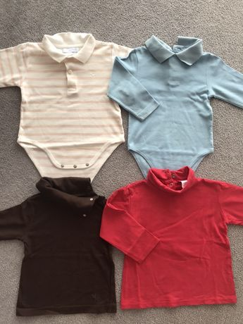2 Bodys + 2 camisolas 12/18 meses