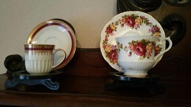 Chávenas e pratos colecção