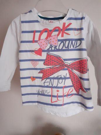 Bluzeczka dla dziewczynki długi rekaw