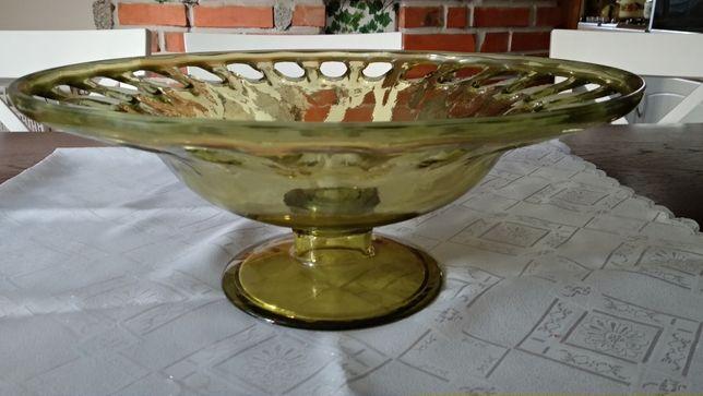 misa duża szklana zielona