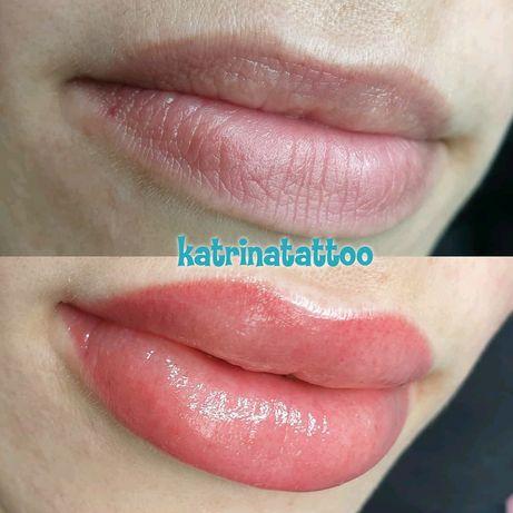 Перманентный макияж 500грн.татуаж.брови губы веки Акция