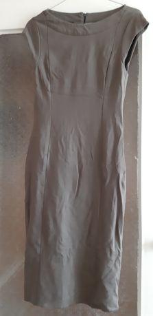 Sukienka z dzianiny khaki r.36