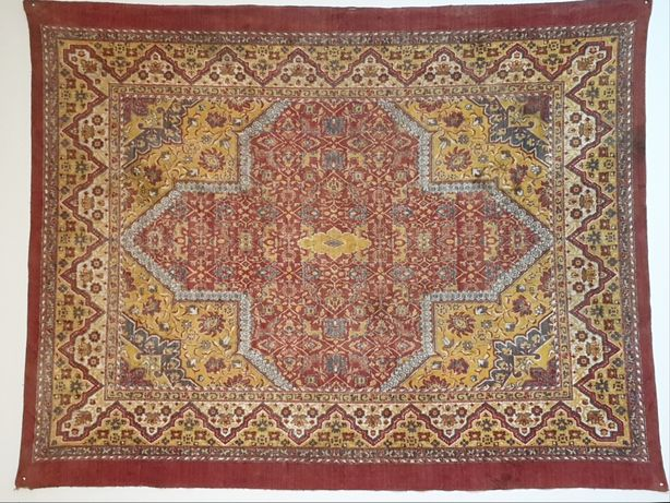 Plusz  140 x 170 Stara tkanina - okres międzywojenny na stół - dywan
