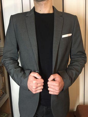 Пиджак мужской серый H&M slim fit