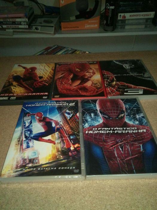 lote 10 trilogias e coleçoes, homem aranha,hellboy ,etc