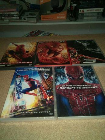 lote 9 trilogias e coleçoes, homem aranha,hellboy ,etc