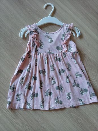 Sukienka w zajączki r.74 H&M