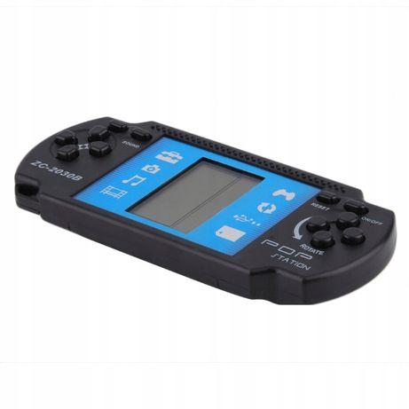 Gra elektroniczna brick tetris czarna mini konsola przenośna gra