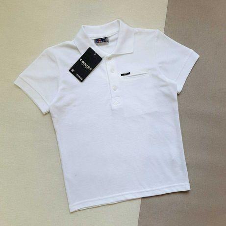 Поло футболка белая для мальчика /CEGISA/ р. 116-134