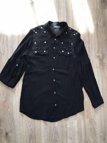 Чорна блуза з паєтками