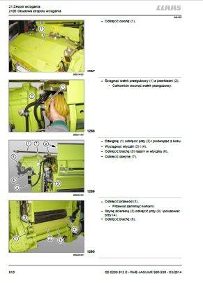 CLAAS JAGUAR 980-930 instrukcja napraw J. POLSKI!