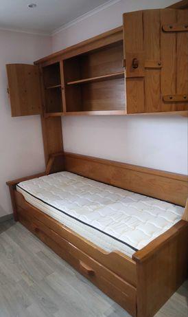 Estúdio (cama+estante+roupeiro+colchão)
