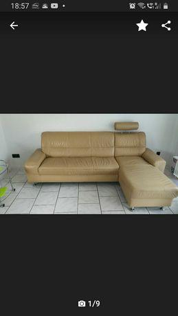 Sofa, kanapa  skóra naturalna.