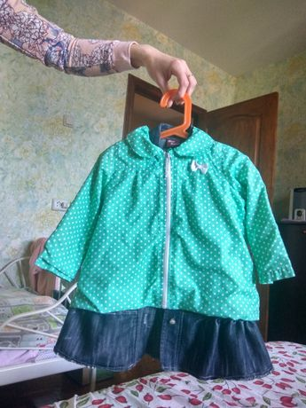 Плащ, курточка куртка накидка дождевик для девочки 86-92р