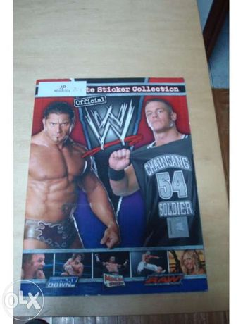 Caderneta the ultimate sticker collection wwe