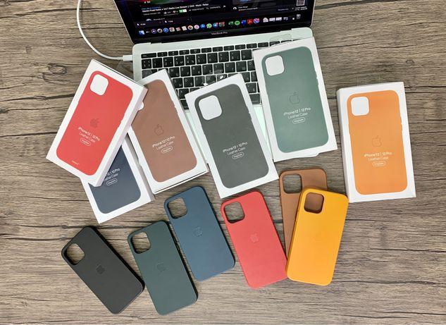 Чехол Кожаный Leather MagSafe iPhone 12 Pro Max Про Макс Магсейф