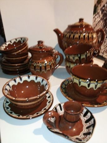 Komplet ceramiczny  lata 70  bułgarski