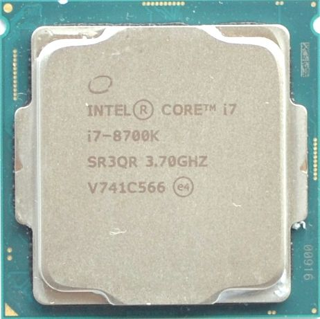 Процессор i7 8700K 3.7GHz 12Mb Intel Core 1151 SR3QR | Гарантия 1 Год