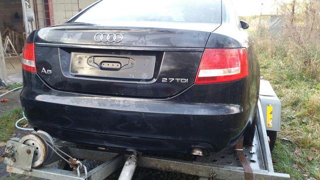 ZDERZAK TYLNY TYŁ z otworami pdc pod czujniki Audi A6 C6 Sedan LZ9Y