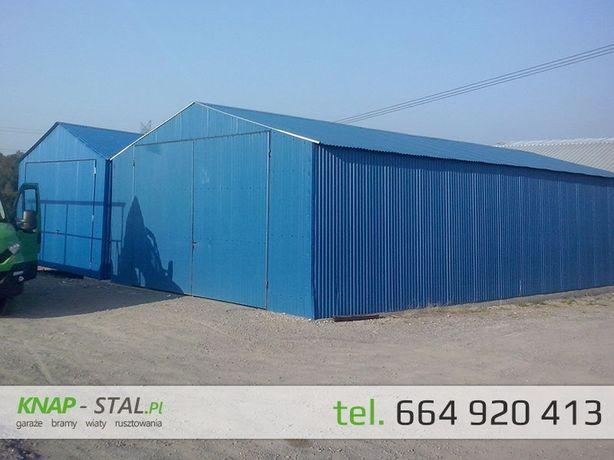 Garaż blaszany 9x9 z bramami - DUŻY GARAŻ - hala , wiata ,magazyn