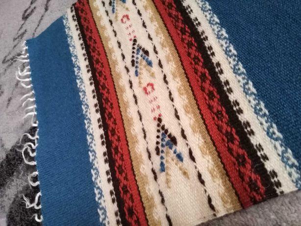 Vintage bieżnik w paski w stylu meksykańskim