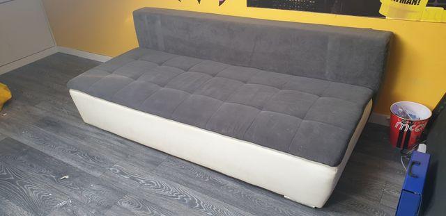 Kanapa wersalka rozkładana biała szara grafit łóżko sofa