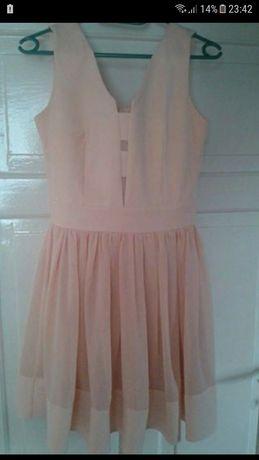 Sukienka 36 brzoskwiniowa