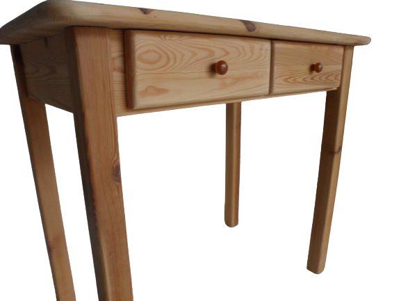 konsoletka sosnowa biurko drewniane-po renowacji dostawa 59zł