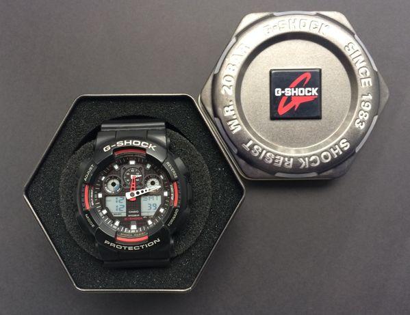 Оригинал, полный комплект наручные часы G-SHOCK CASIO GA-100-1A4ER