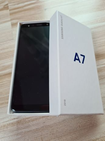 Telefon Samsung Galaxu A7 A 7 używany uszkodzony sprawny czarny