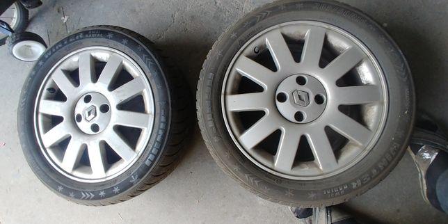 Felgi aluminiowe Renault z oponami lu zamiana na jakies narzędzie