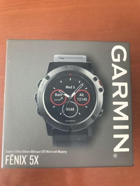 Garmin Fénix 5X Sapphire Ed. + Bracelete extra Quickfit 26 Slate Gray