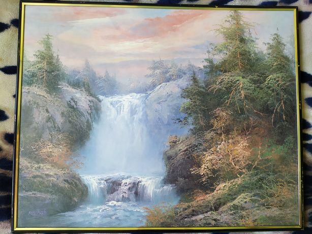 "Картина Рахаб ""Водопад"" в рамке"