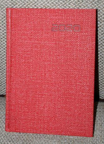 Kalendarz 2020 jako rysownik, notatnik, szkicownik, A5, czerwony