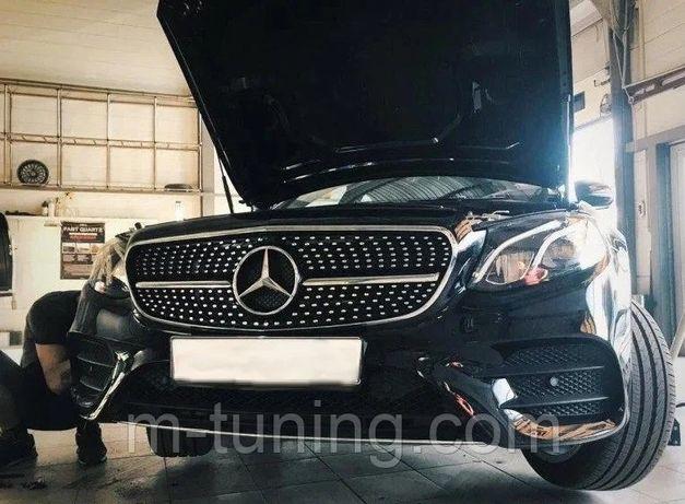 Решетка радиатора Mercedes W213 стиль AMG GT Diamond решітка 213 амг