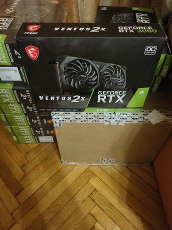 Відеокарта MSI RTX 3060 Ventus 2X OC 12 GB LHR! Нові! Гарантія!