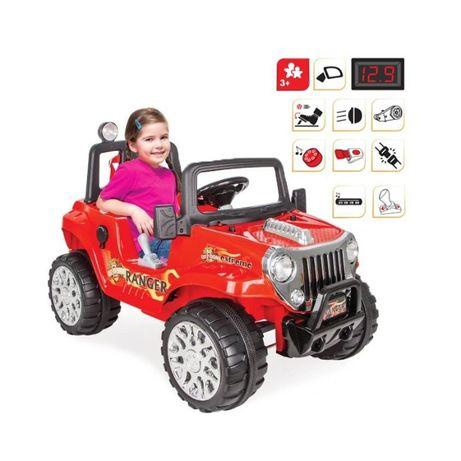 Duży Samochód autko Na Akumulator Ranger 12V Czerwony Od 3 lat