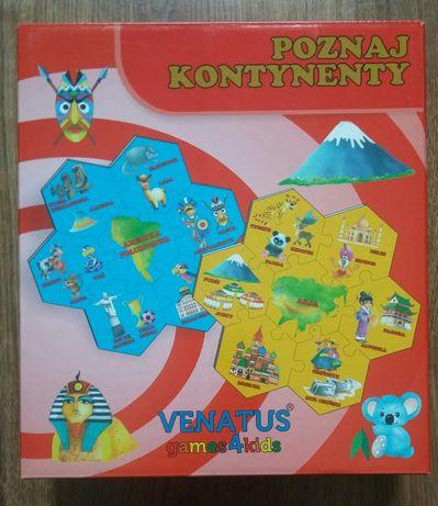 Puzzle Poznaj kontynenty (48 elementów) - Venatus
