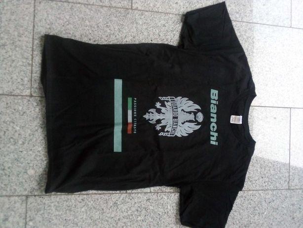 Koszulka z logo bianchi
